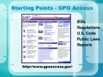 starting points gpo access