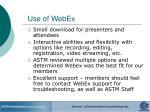 use of webex
