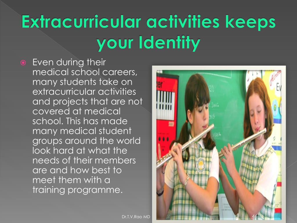 Extracurricular activities keeps your Identity