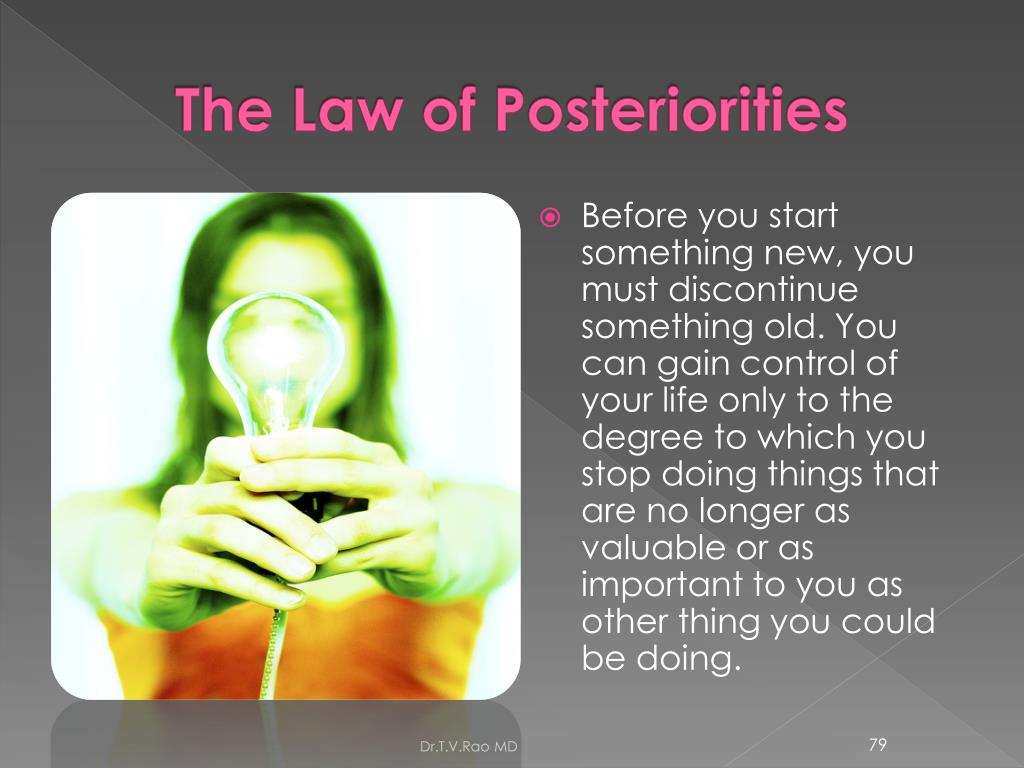 The Law of Posteriorities