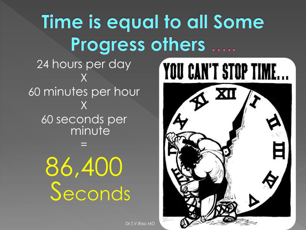Time is equal to all Some Progress others