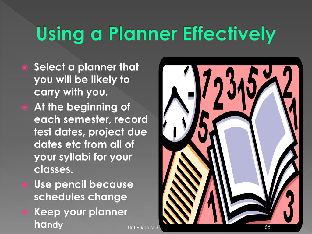 Using a Planner Effectively