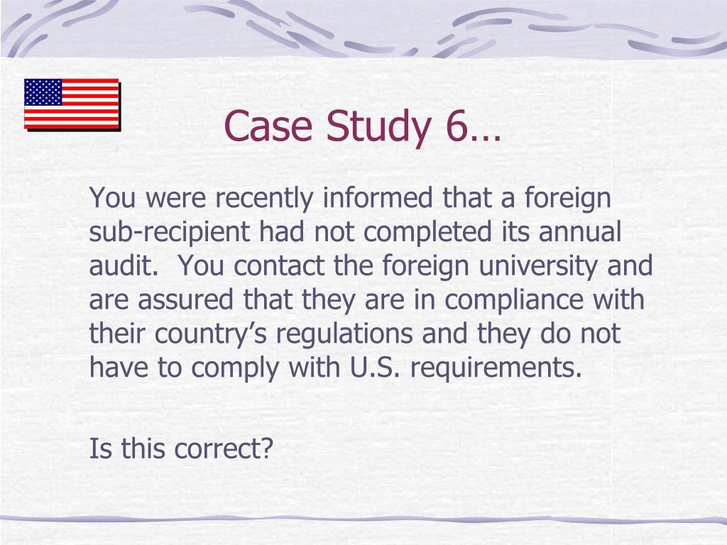 Case Study 6…