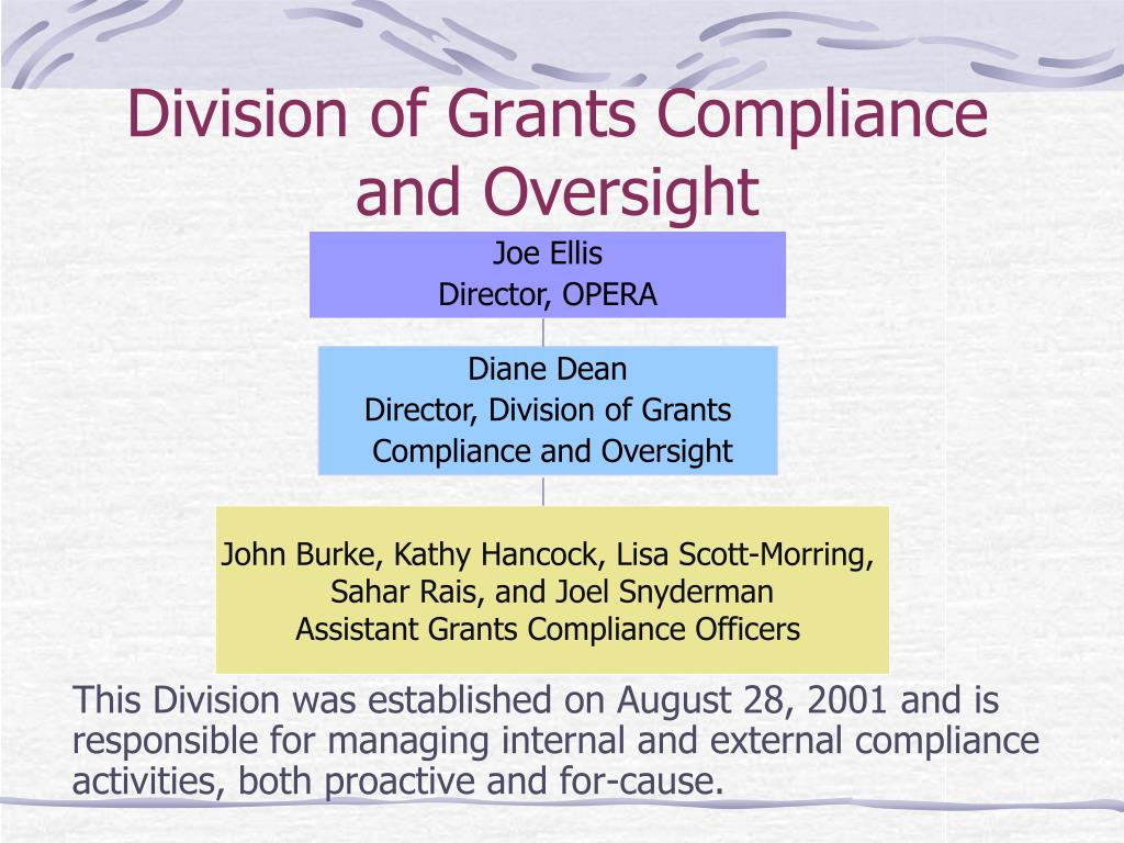 Division of Grants Compliance