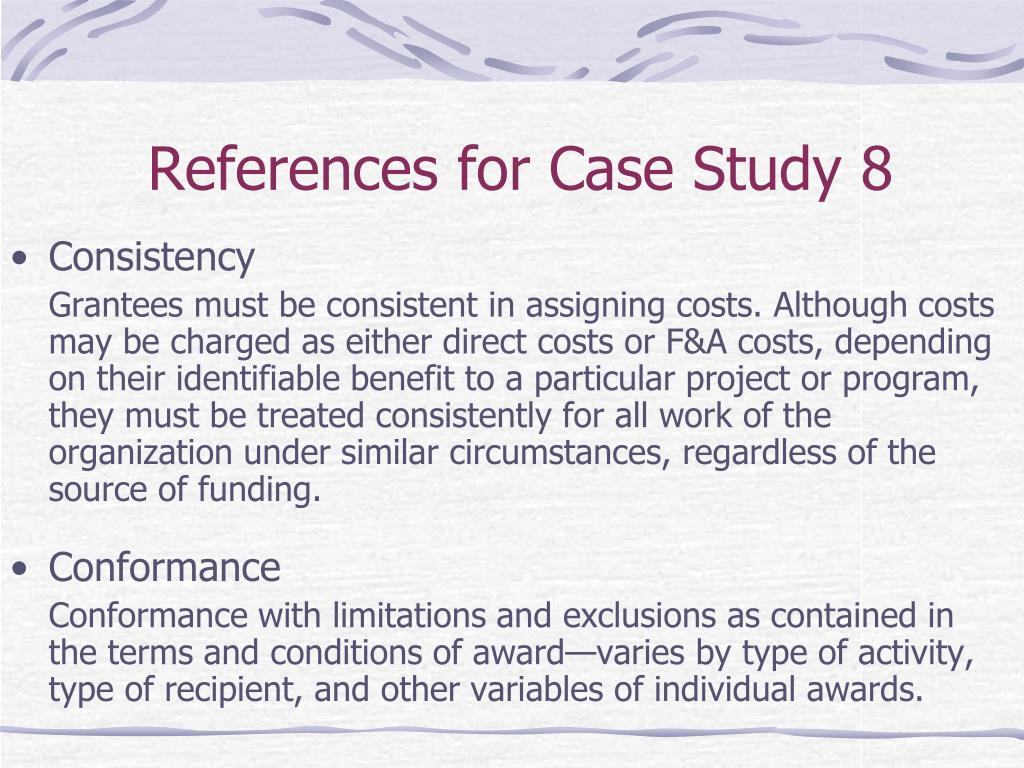 References for Case Study 8
