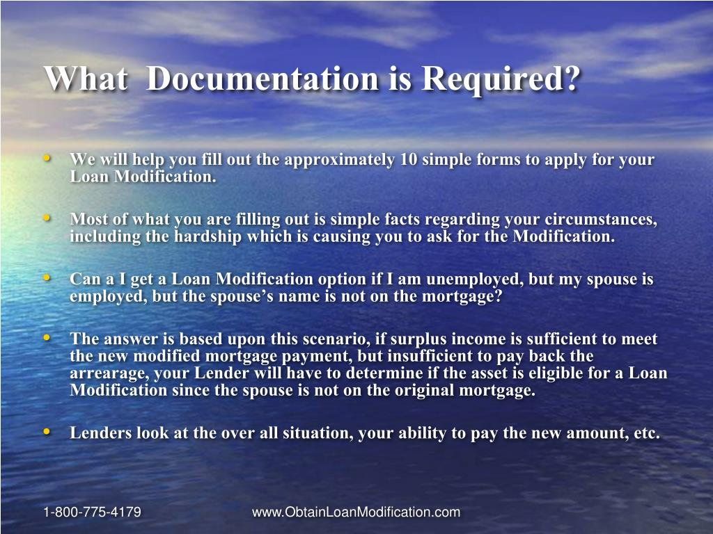 What  Documentation is Required?