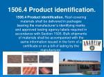 1506 4 product identification