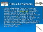 1507 2 6 fasteners