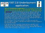 1507 2 8 underlayment application