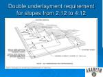 double underlayment requirement for slopes from 2 12 to 4 12