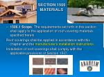 section 1506 materials