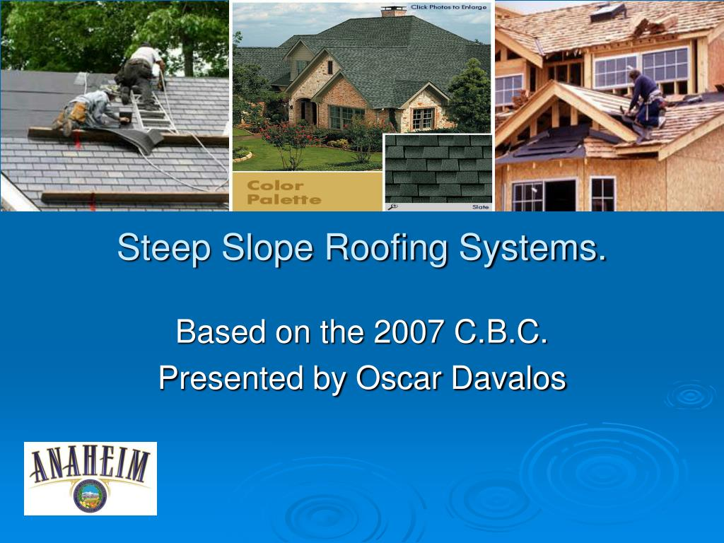 steep slope roofing systems l.