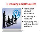 e learning and resources