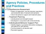 agency policies procedures and practices neti 2003
