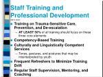 staff training and professional development neti 2003