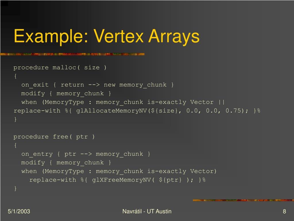 Example: Vertex Arrays