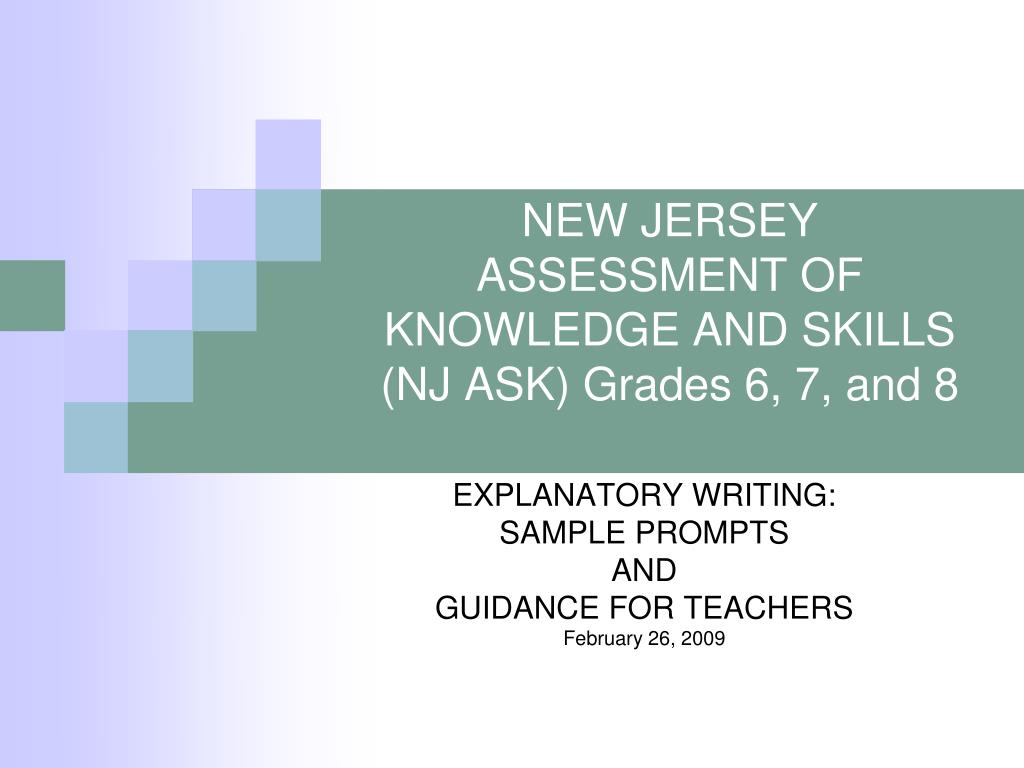 new jersey assessment of knowledge and skills nj ask grades 6 7 and 8 l.