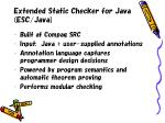 extended static checker for java esc java