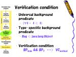 verification condition
