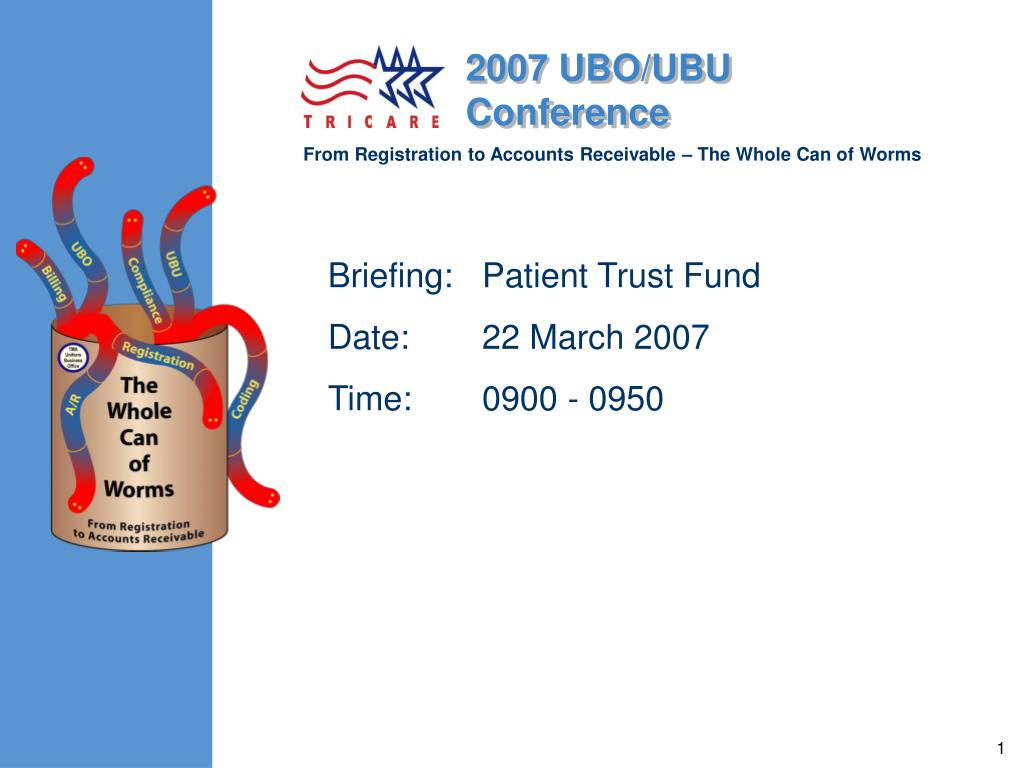briefing patient trust fund date 22 march 2007 time 0900 0950 l.