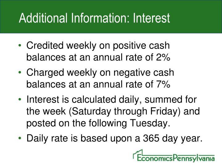 Additional Information: Interest