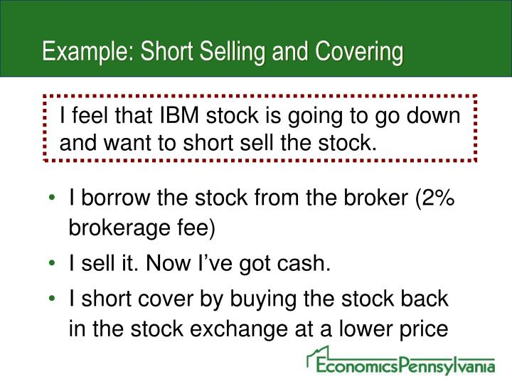 Example: Short Selling and Covering