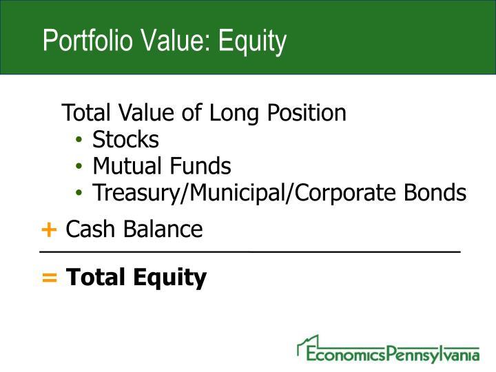 Portfolio Value: Equity