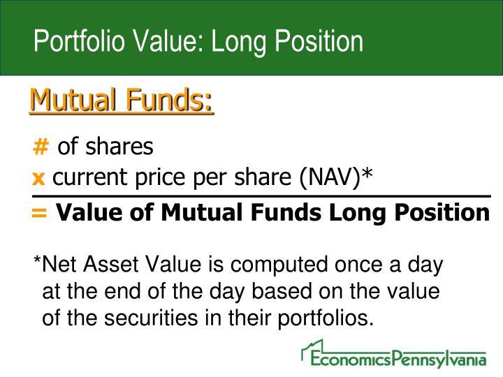 Portfolio Value: Long Position
