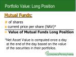 portfolio value long position1