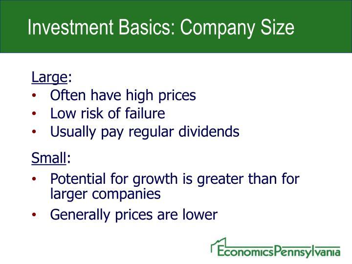 Investment Basics: Company Size
