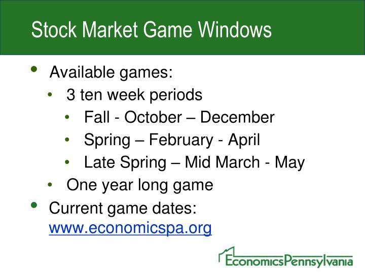 Stock Market Game Windows