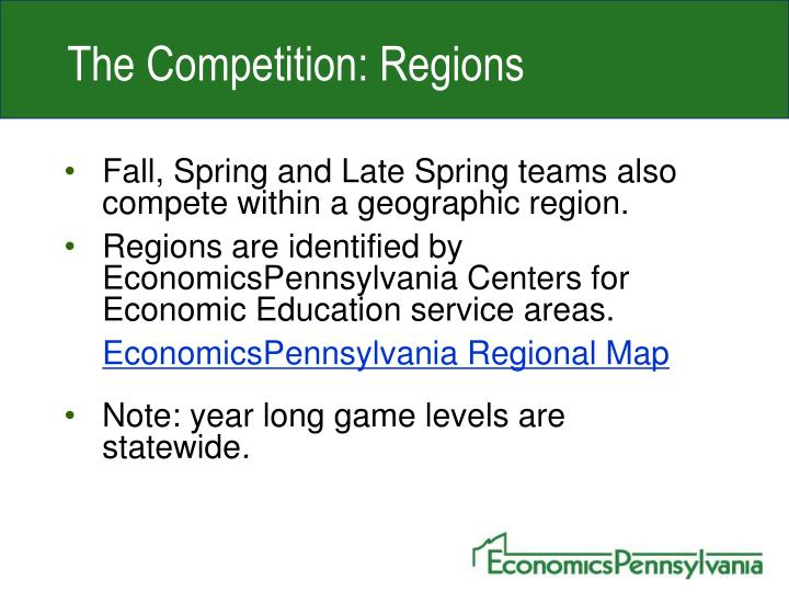 The Competition: Regions