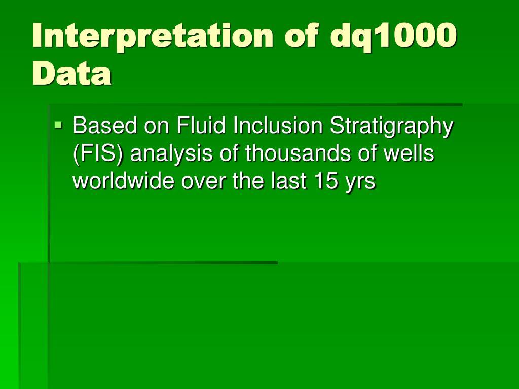 Interpretation of dq1000 Data