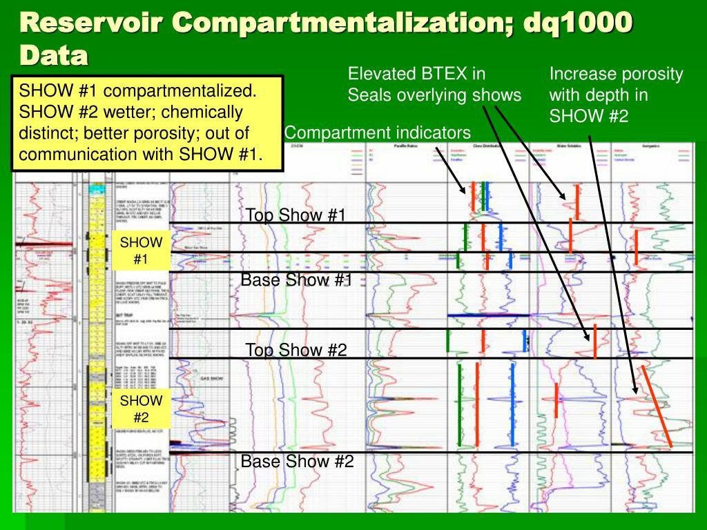 Reservoir Compartmentalization; dq1000 Data