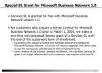special sl grant for microsoft business network 1 0