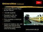 universities continued12