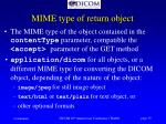 mime type of return object