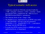 typical scenario web access