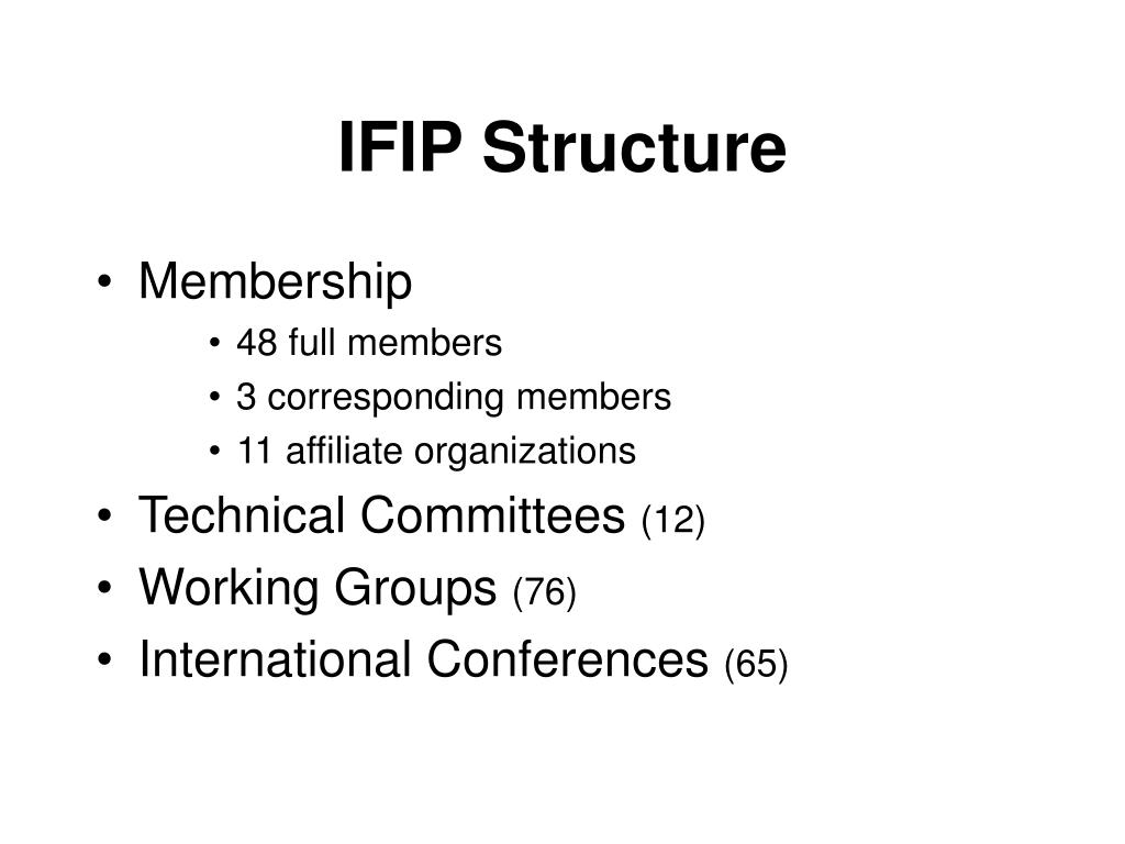 IFIP Structure