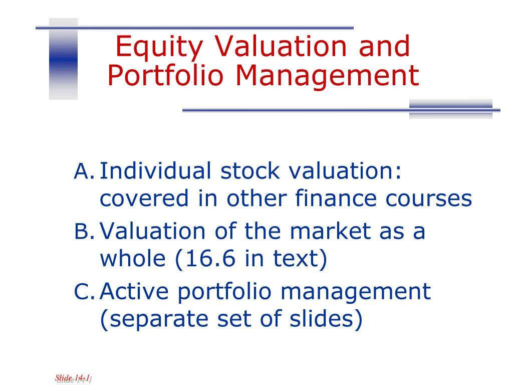 equity valuation and portfolio management l.