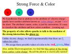 strong force color