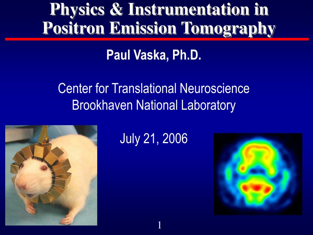 physics instrumentation in positron emission tomography l.