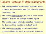 general features of debt instruments
