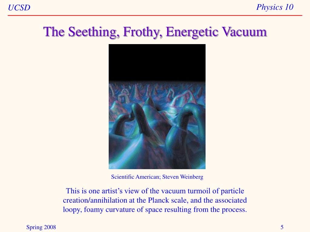 The Seething, Frothy, Energetic Vacuum
