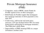 private mortgage insurance pmi