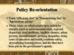 policy re orientation