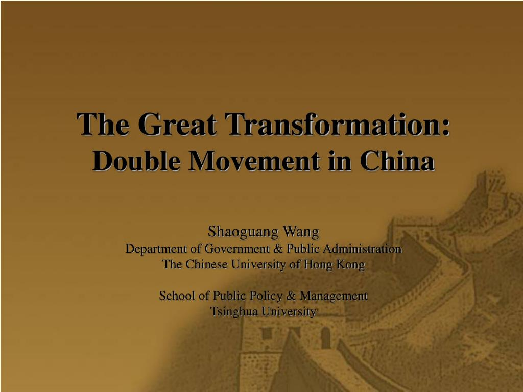 the great transformation double movement in china l.