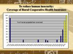 to reduce human insecurity coverage of rural cooperative health insurance