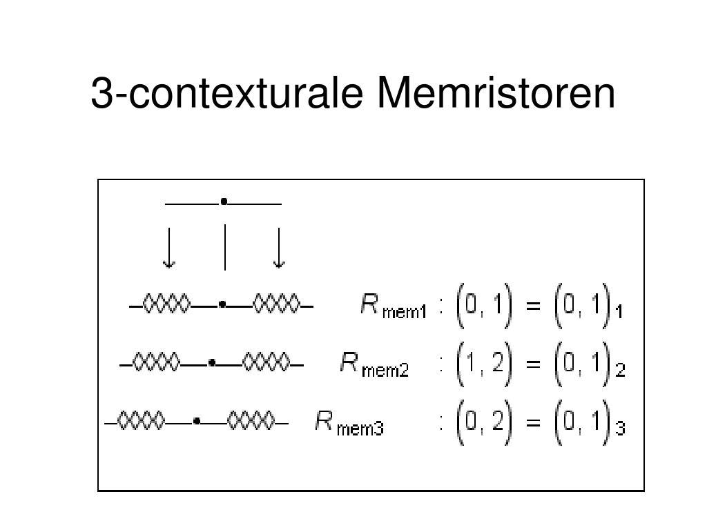 3-contexturale Memristoren