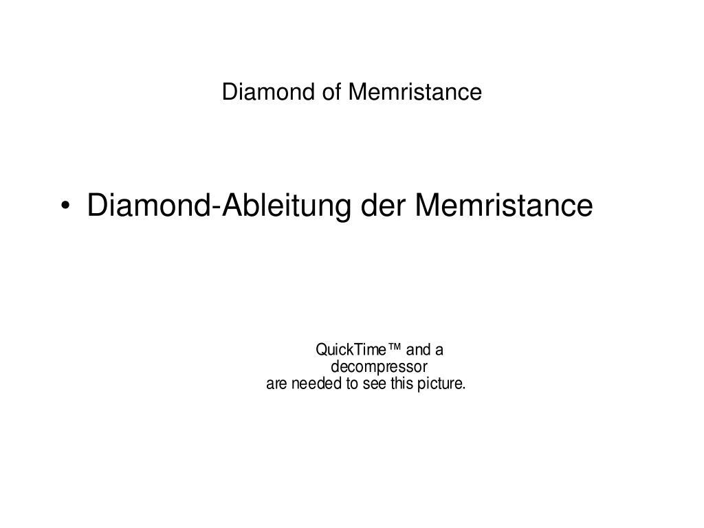 Diamond-Ableitung der Memristance